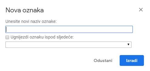 Create new label gmail