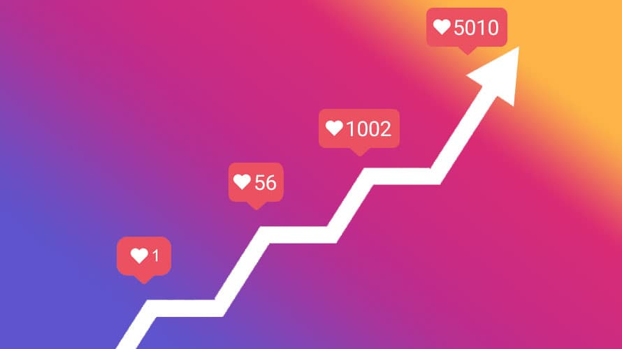 Instagram followers growth with advertising